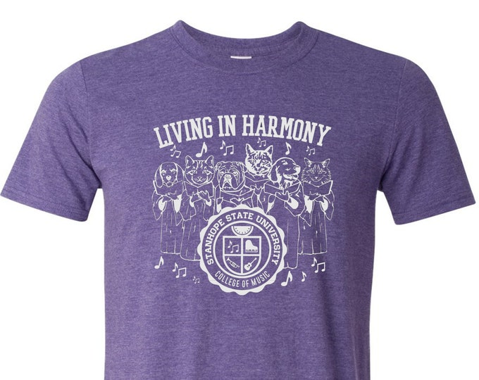 Featured listing image: Living in Harmony - College of Music T-Shirt