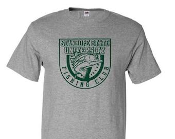 Stanhope State University Fishing Club T-Shirt