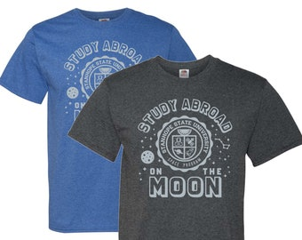 Study Abroad Space Program - The Moon - T-Shirt