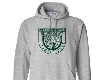 Stanhope State University Fishing Club Hoodie