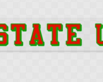 Stanhope State University Traditional Back Window Vehicle Sticker