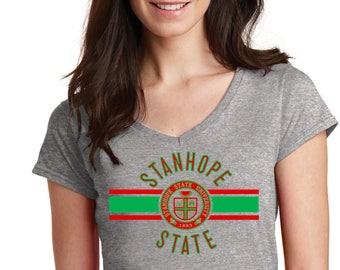 Soft Stanhope State Ladies V-Neck