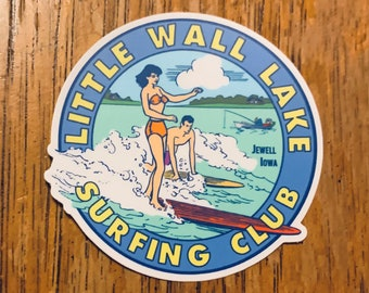 Little Wall Lake Surfing Club Decal