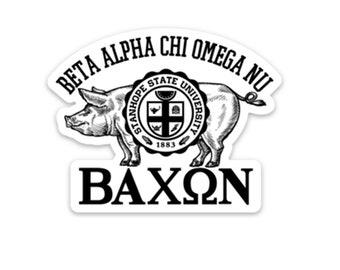 Bacon Fraternity/Sorority Sticker - Campus Greek Life