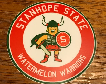 Lars the Watermelon Warrior Circle Decal