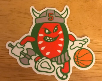 Sven the Slice Basketball Die Cut Decal