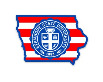 Patriotic Stanhope State Sticker