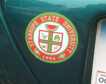 Stanhope State Official Seal  Decal