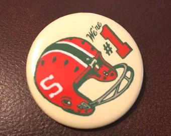 Watermelon Warriors Football Button (1.25 in)