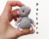 Mouse toy crochet PATTERN in English amigurumi toy Stuffed mouse Pdf crochet pattern Pet animal Baby toy gift