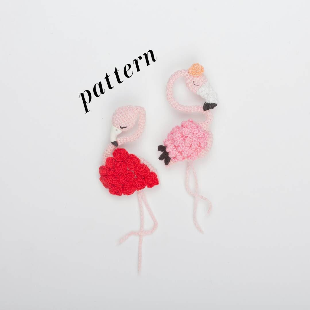 Brooch Flamingo Crochet Flamingo Crochet brooch