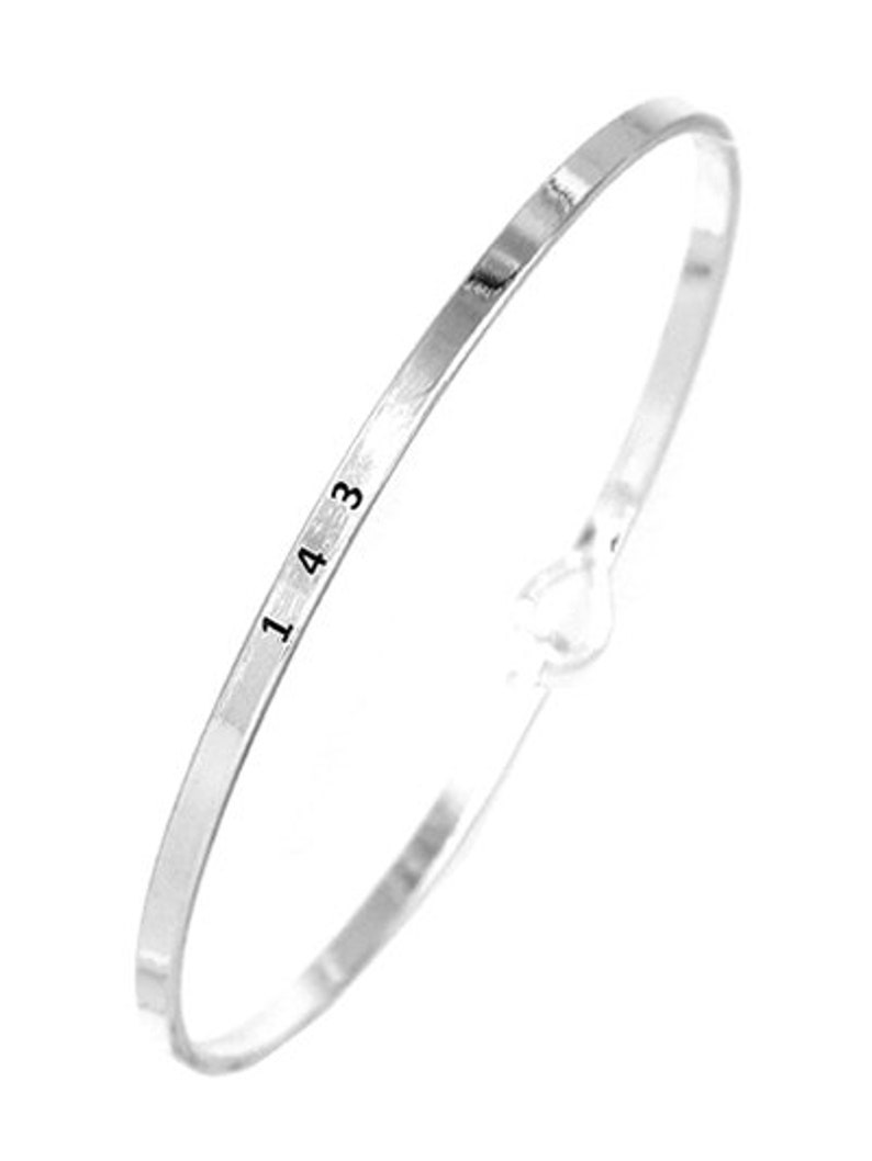 Message Engraved Bracelet Personalized Bracelet Inspirational Bracelet 143 Message Bracelet Message Bracelets For Women