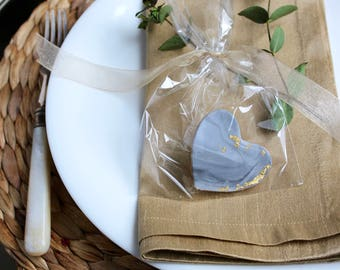 x30 Edible Wedding Favours  |  Shortbread Biscuits  |  Party favours  |  Marble  |  Minimal  |  Gold Leaf
