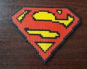 Items Similar To Superman Logo Pixel Bead Art On Etsy