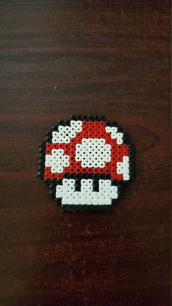 Items Similar To Mushroom Super Mario Bros 3 Pixel Bead Art