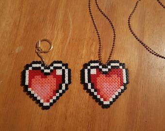 Legend of Zelda Heart Pixel Bead Art