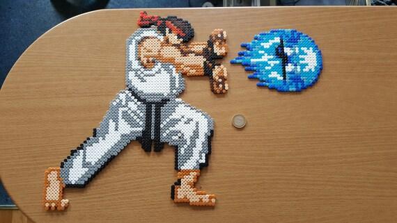 Ryu Hadouken Street Fighter Bead Art Etsy