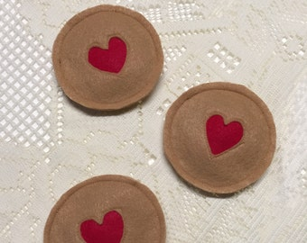 Organic Catnip Heart Cookie Cat Toy - Valentine's Day Cat Toy