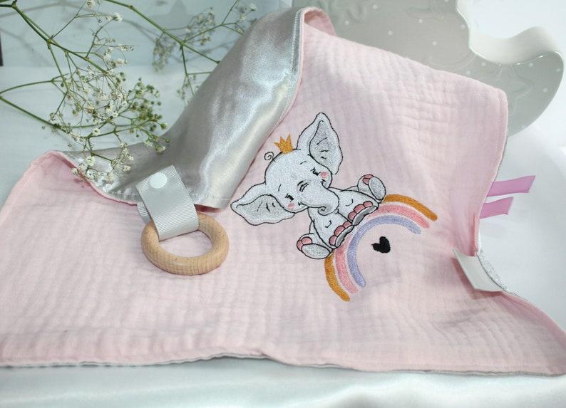 new baby gift Baby Muslin comforter Rainbow Elephant Baby girls comforter blanket Birthday christening Christmas gift baby shower gift