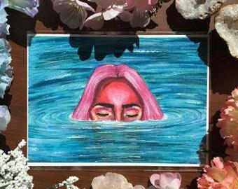 Submerged Nymph Art Print