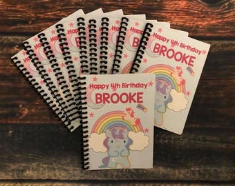 Birthday Party Favors Unicorn Coloring Books And Crayons Personalized Gold Glitter Favor Tags Gift Bags Magical