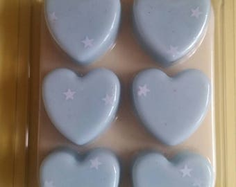 Blue Cotton Candy Heart Clamshell