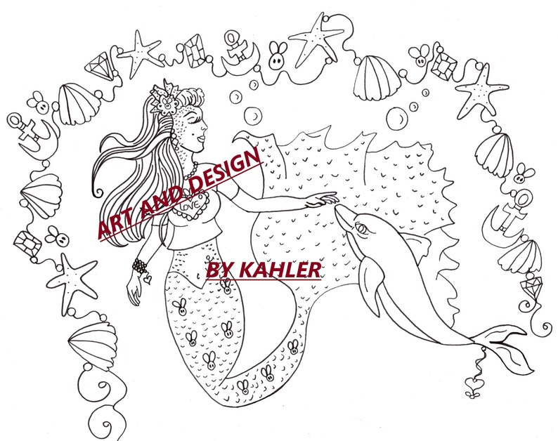 This is an image of Free Printable Fantasy Pinup Girl Coloring Pages inside fantasy colour