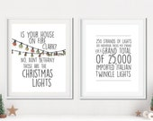 Imported Italian Twinkle Lights - Aunt Bethany - National Lampoon 39 s Christmas Vacation - Set of TWO Unframed 11x14 Christmas Art Prints