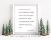 National Lampoon 39 s Christmas Vacation - Clark 39 s Speech - 11x14 Christmas Holiday Home Decor Poster Sign - Griswold Movie Quote
