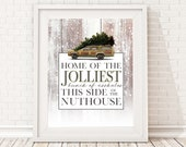 National Lampoon 39 s Christmas Vacation Sign, Jolliest Bunch of Assholes - Unframed 11x14 Christmas Holiday Home Decor Poster