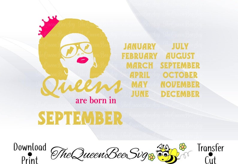 a4b0799b95eb2 Queens svg woman s birthday month shirt svg files for
