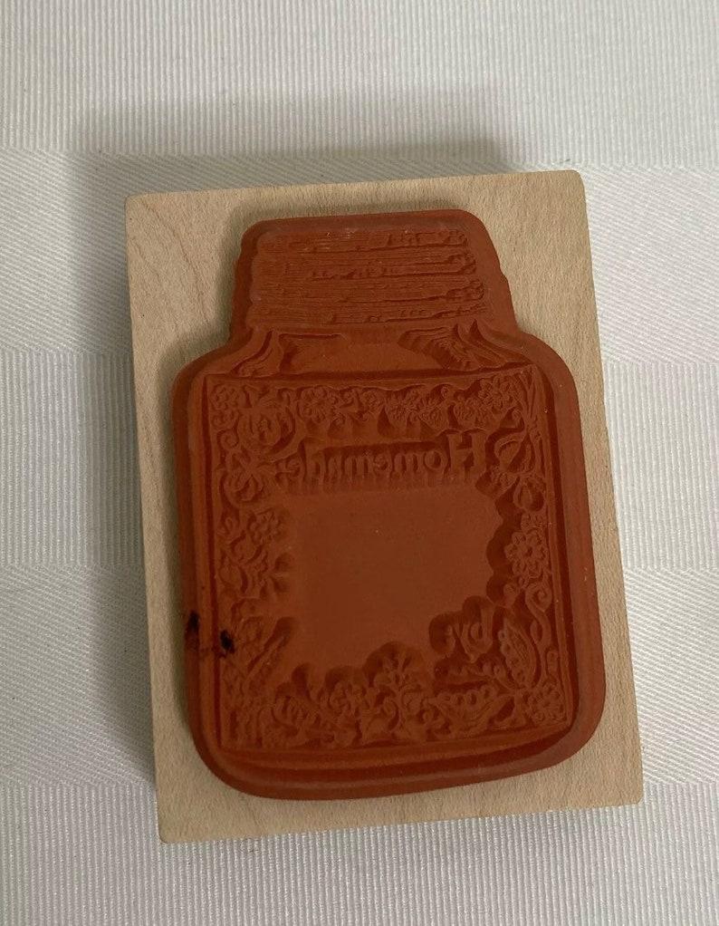 New Stamp Mason Jar\u201cHomemade\u201d and personalalizable 2\u201d x 2.5\u201d or 5.08 x 6.35 cms