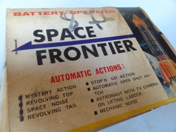 Battery Operated Space Toys KY Yoshino Japan 1960/'s Space Frontier in Original Box Vintage SPACE FRONTIER Apollo Tin Space Frontier Toy