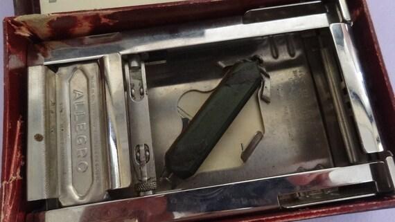 najlepsza wyprzedaż strona internetowa ze zniżką sklep w Wielkiej Brytanii Vintage ALLEGRO Model L Razor Blade Sharpener in Original Box, Swiss  Allegro Metal Razor Sharpener, Men's Shaving Set, Blade Stropper Kit