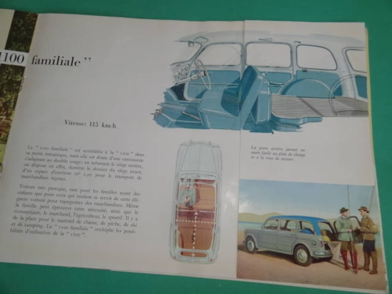 Brochure De 1960 Vente Langue Français Italie Mille CentDépliant Vintage Fiat Voitures Publicitaire FiatAncienne La Publicité K1cFlJT