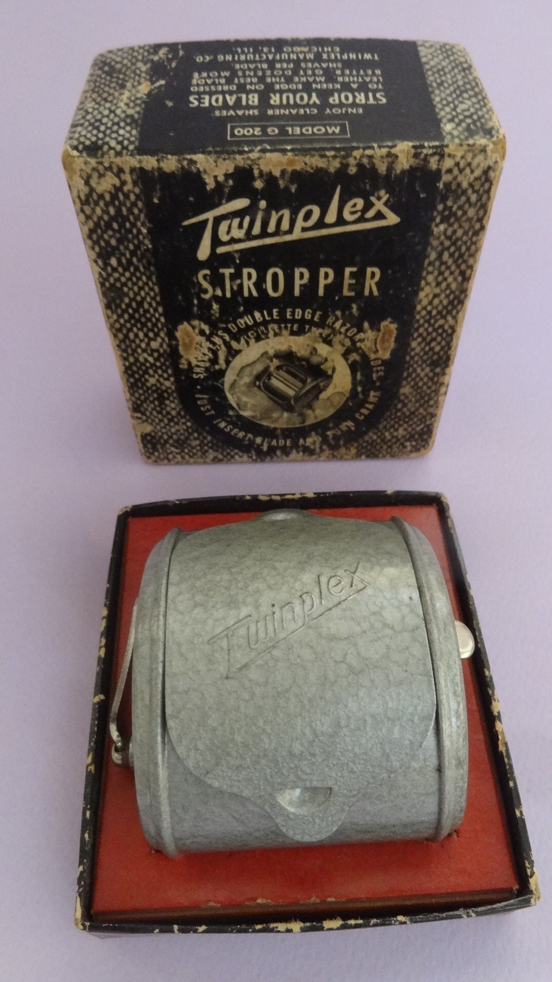 Vintage Razor BLADE SHARPENER 1950s, Twinplex Stropper Razor Blade  Sharpener in Original Box, USA Metal Razor Sharpener, Men's Shaving Set