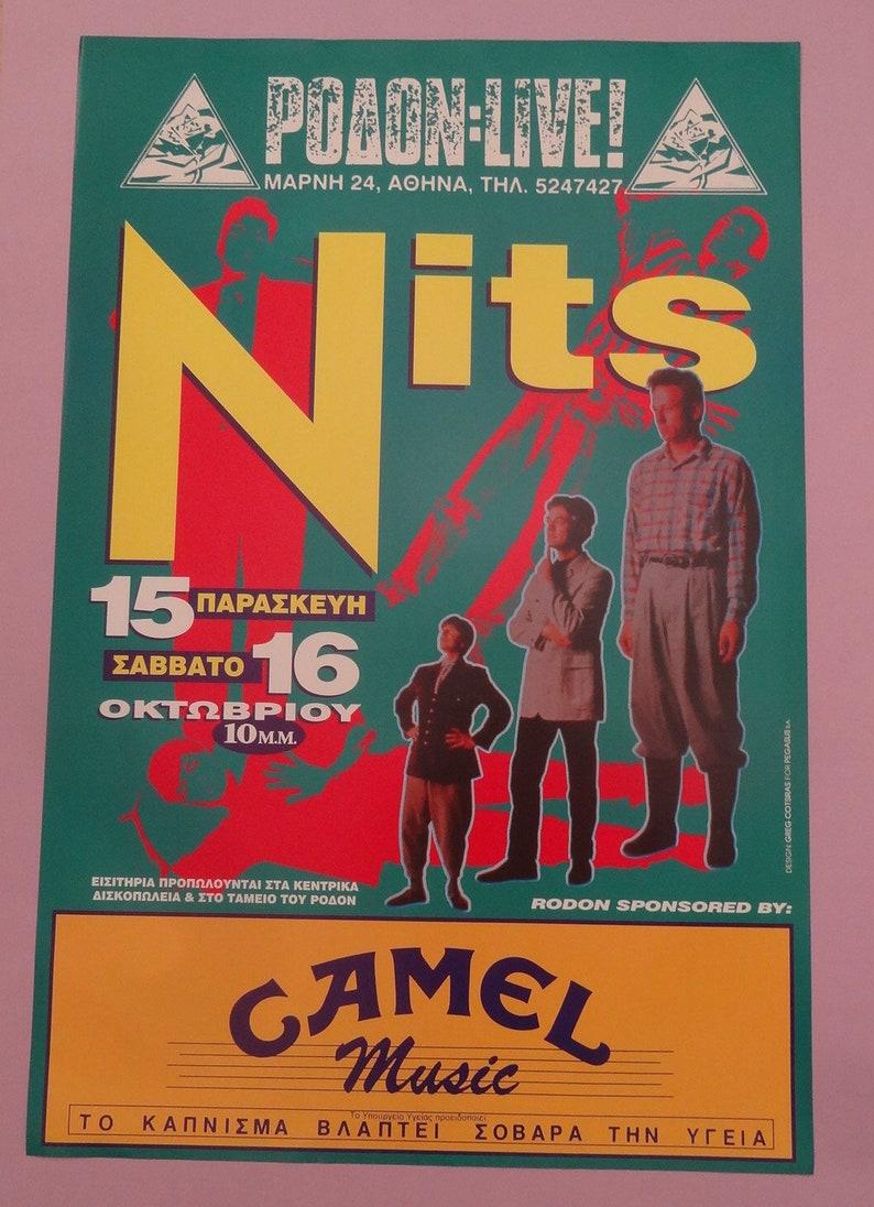 Nits Dutch Pop Group Live Concert at Rodon Athens Greece 1993 NITS ROCK POSTER Club Pub Rock Wall Decor 56x85 Rock Pop Music Posters