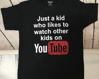 2b8c319c4 YouTube kids Shirt, Youtuber, Kids You Tube Tee, Girl You Tube Tee, Boy You  Tube Tee, Youtuber Shirt, Youtuber Kids, Kids