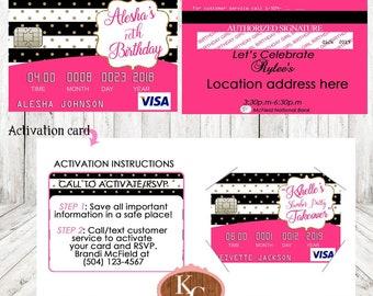 Credit Card Invite Etsy