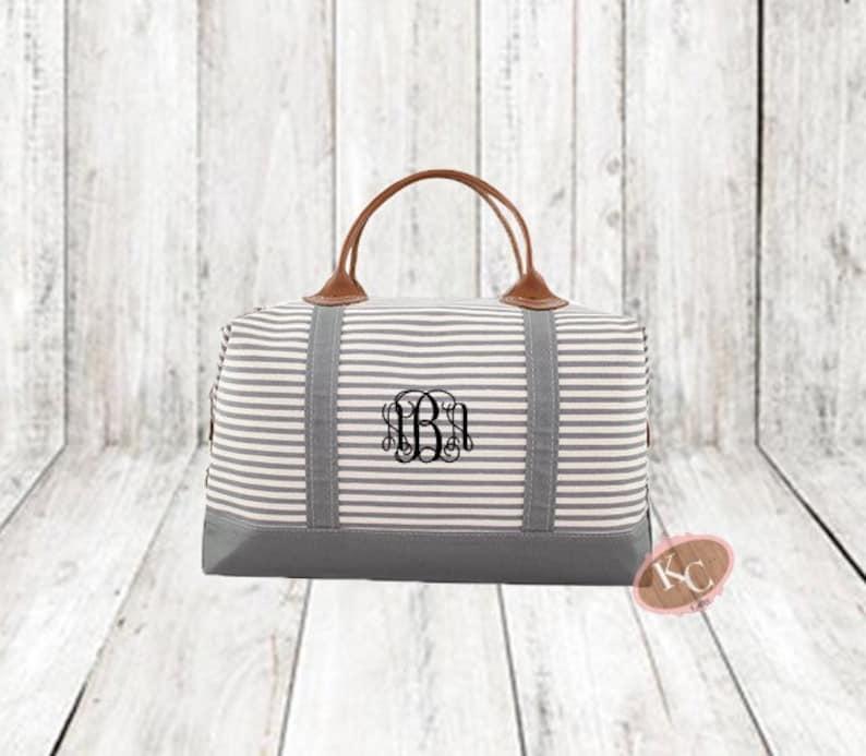 bc0ab991f01 Weekender Gray Strip, Weekender Bag Women, Large Tote Bag, Weekender Bag,  Overnight Bag, Travel Bag, Tote Bag, Gift for Her