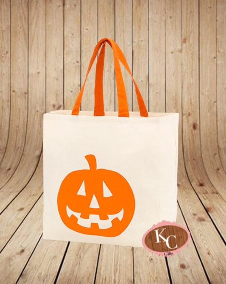 Trick or Treat Bag Hocus Pocus, Halloween Trick or Treat Halloween Tote Bag Personalized Halloween Bag Halloween Tote