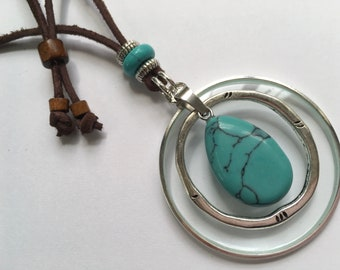 Magnifying Necklace, Healing Gem Stone, Monocle Necklace, Loupe Necklace, Long Necklace, ByWendra