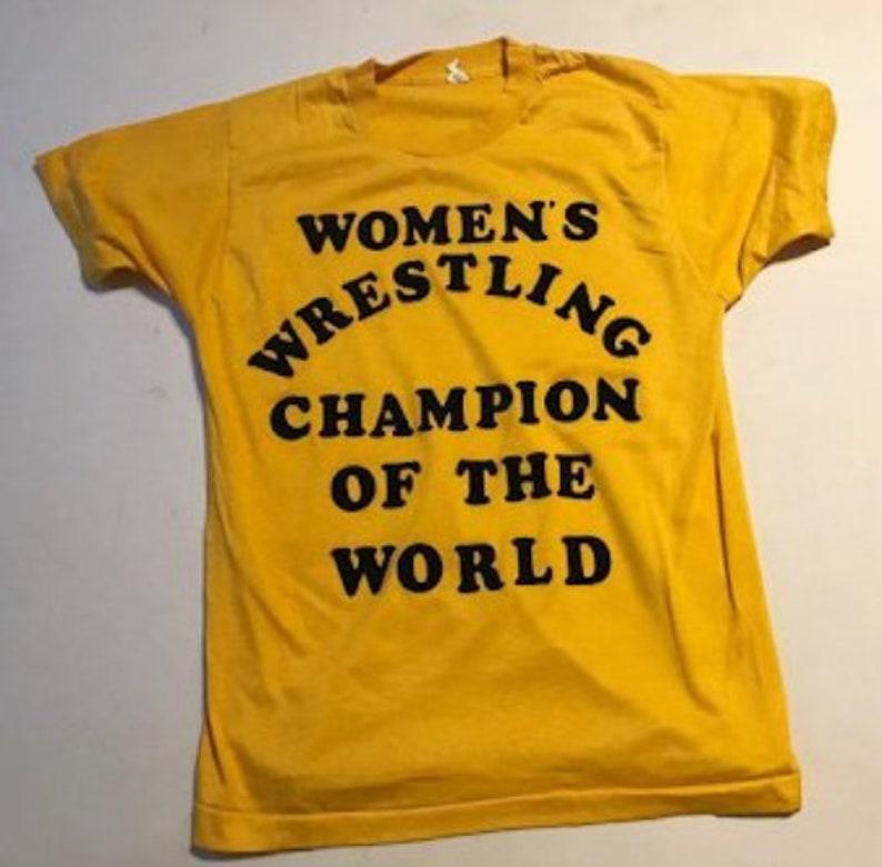 52b41ee1 Women's Wrestling Champion of the World Shirt Andy Kaufman | Etsy