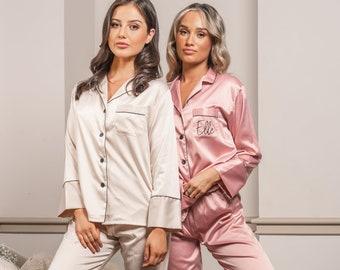 Personalised Pyjamas, Birthday Gift Pajamas, Wedding Pyjames, Bridesmaid Gifts, Bridal Shower Pajamas, Bachelorette Pajamas, Bride Pyjamas