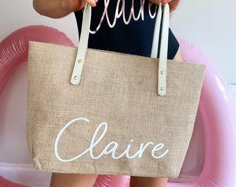 Custom Holiday Bag, Beach Travel Bag, Birthday Gift, Bride Gift, Hen Party Bag, Custom Name Bag, Bridal Shower Bag, Bachelorette Party Bag
