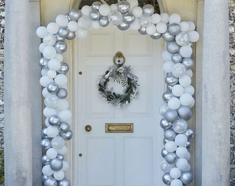 Silver Balloon Garland Kit, Christmas Door Decorations, Wedding Decorations, Baby Shower Decoration, Birthday Party Balloons, Party Backdrop