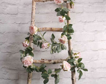 Light Pink Rose Flower Garland Artificial Flowers Vines Rustic Wedding Decorations Home Party