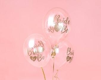 c4e55edaaf318e 10 Gold  Bride to Be  Balloons