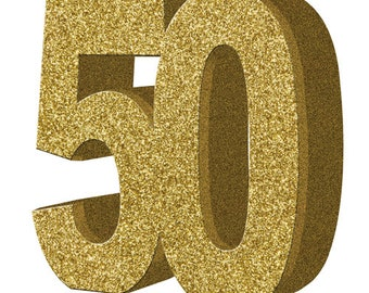 Gold Glitter 50th Birthday Party Table Decoration 50 Centrepiece Decorations