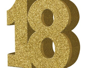 Gold Glitter 18th Birthday Party Table Decoration 18 Centrepiece Decorations